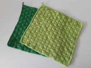 Waschlappen/ Spüllappen/ Putzlappen Baumwolle grün 2 Stück von friess-design  - Handarbeit kaufen