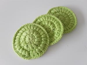 Kosmetikpads/ Abschminkpad Baumwolle *limone* 3 Stück von friess-design  - Handarbeit kaufen