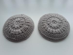 Stilleinlagen aus Biobaumwolle gehäkelt von friess-design 6 Stück waschbar wiederverwendbar - Handarbeit kaufen