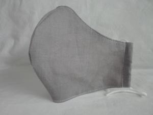 Mundmaske Nasenmaske Behelfsmaske aus Leinen für den Herren von friess-design