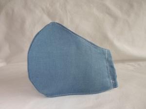 Mundmaske Nasenmaske Behelfsmaske aus Leinen für den Herren von friess-design     - Handarbeit kaufen