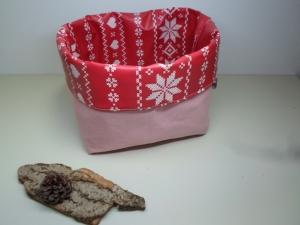 Utensilo *Stella* Wachstuch abwischbar Baumwolle rosa Unikat von friess-design  - Handarbeit kaufen