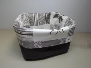 Utensilo *Neve* Wachstuch abwischbar Baumwolle braun Unikat von friess-design  - Handarbeit kaufen