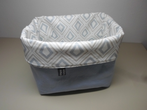 Utensilo *Cristallo* Wachstuch abwischbar Baumwolle hellblau Unikat von friess-design  - Handarbeit kaufen
