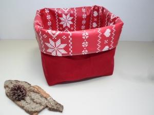 Utensilo *Stella* Wachstuch abwischbar Baumwolle rot Unikat von friess-design  - Handarbeit kaufen
