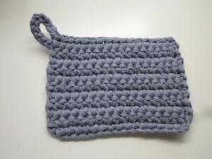 Rubbeltuch/ Putztuch *Pulito* Baumwolle grau - Handarbeit kaufen
