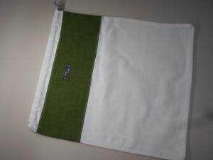 Brotbeutel *Verde* Baumwolle weiß klein von friess-design   - Handarbeit kaufen