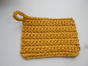 Rubbeltuch/ Putztuch *Pulito* Baumwolle senf - Handarbeit kaufen