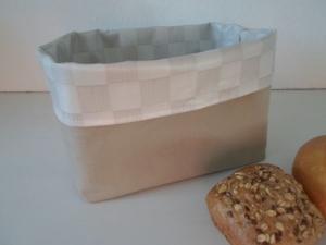 Brotkorb *Quadro* Wachstuch abwischbar sehr fest von friess-design   - Handarbeit kaufen