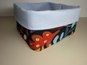 Stoffkorb *Modena* Baumwolle bunt/blau quadratisch sehr fest von friess-design   - Handarbeit kaufen