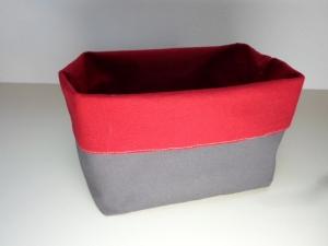 Stoffkorb/ Brotkorb *Torino* Baumwolle rot/ braun  von friess-design - Handarbeit kaufen