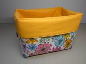 Stoffkorb/ Brotkorb *Rimini* Baumwolle gelb/ bunt von friess-design  - Handarbeit kaufen
