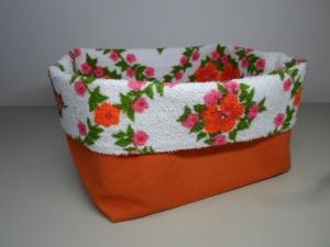 Stoffkorb *Nonna* Baumwolle orange/ bunt von friess-design  - Handarbeit kaufen