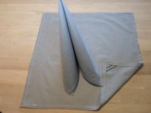 Stoffservietten Baumwolle grau groß, 2er-Set von friess-design  - Handarbeit kaufen