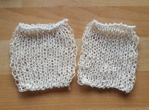 Seifensäckchen Baumwolle *creme* 2 Stück  - Handarbeit kaufen