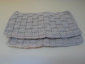 Waschlappen Baumwolle hellgrau 2 Stück von friess-design  - Handarbeit kaufen