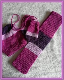 Handgestrickte Mütze, Schal und Handschuhe für Kleinkinder - Handarbeit kaufen