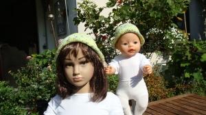 gehäkeltes Sommerhütchen aus Baumwolle für Kind und Puppe - Handarbeit kaufen