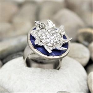 Ring - blumig aus Edelstahl - Handarbeit kaufen