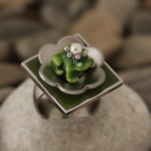 Ring - Froschkönig aus Edelstahl - individualisierbar - Handarbeit kaufen
