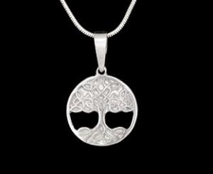 Silberanhänger handgefertigt - kleiner Baum des Lebens - Unikat - Handarbeit kaufen