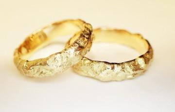 trauringe eheringe 585 Gold in Handarbeit gefertigt