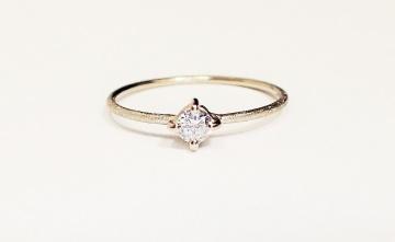 ring verlobung WEISSGOLD 585 14 karat DIAMANT 0,15ct
