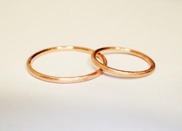minimalistische trauringe eheringe 585 Gold oder Roségold in Handarbeit gefertigt