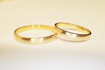schlichte trauringe eheringe 585 Gold oder Roségold in Handarbeit gefertigt