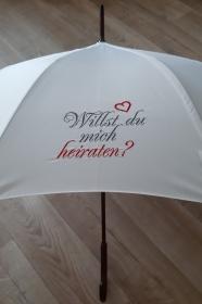 HOCHZEIT ♥ Bestickter Regenschirm ♥