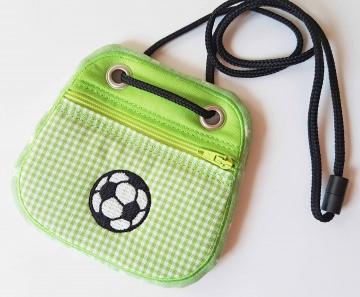 Brustbeutel Fußball ♥ praktische Geldbörse/Minitäschchen für Kinder