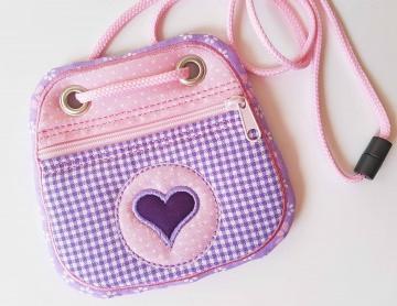 Brustbeutel Herz ♥ praktische Geldbörse/Minitäschchen für Kinder