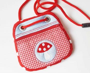 Brustbeutel Fliegenpilz ♥ praktische Geldbörse/Minitäschchen für Kinder