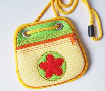 Brustbeutel Blume ♥ praktische Geldbörse/Minitäschchen für Kinder