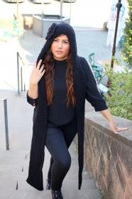 Kapuzenschal *Hoodie* in black