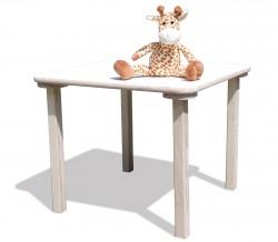 Kindertisch- 58 x 110 cm - weiße Tischplatte - NEU