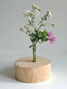 Stylische Deko - Holzvase