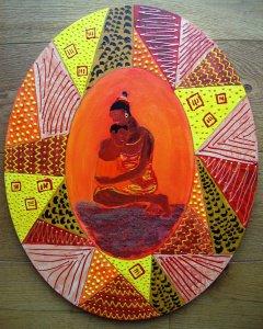Acrylbild USALAMA Acrylmalerei Gemälde Wanddekoration Geschenk zum Muttertag Bild  - Handarbeit kaufen