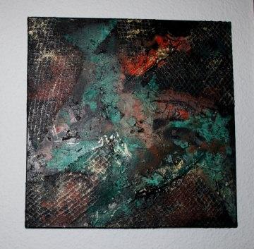 Gemälde GOLDAKZENTE Acrylbild abstrakte Acrylmalerei Kunst direkt v. Künstler  Malerei Acrylbild - Handarbeit kaufen
