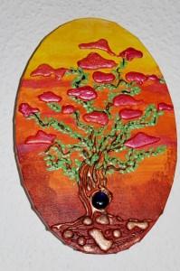 Acrylbild TRAUMBÄUMCHEN Acrylmalerei Baum Bonsai Bäumchen Landschaftsmalerei Gemälde - Handarbeit kaufen