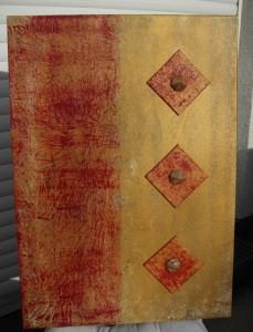 Acrylbild RUBINROT Acrylmalerei Gemälde Wanddeko abstrakte Kunst  Malerei  Bild handgemalt Unikat direkt vom Künstler - Handarbeit kaufen