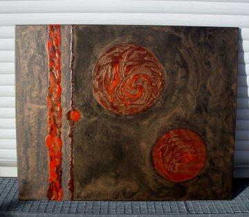 Acrylbild BLUTMONDE Acrylmalerei Gemälde Wanddeko abstrakte Kunst  Malerei  abstrakte Monde Bild - Handarbeit kaufen