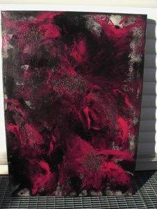 Acrylbild Purpurzauber Acrylmalerei Gemälde abstrakte Kunst Wanddekoration lila Bild   - Handarbeit kaufen