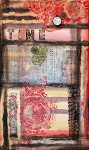 Acrylbild Collage TIME Gothic Steampunk Viktorianisch Vintage Industrial   - Handarbeit kaufen