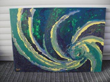 Acrylbild MEERESWIRBEL Acrylmalerei Gemälde abstrakte Kunst Wanddekoration  Bild - Handarbeit kaufen