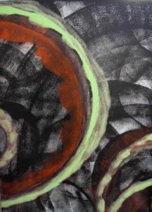 Acrylbild NOVEMBERSTRÖME Acrylmalerei Gemälde abstrakte Malerei Wanddekoration schwarzes Bild  - Handarbeit kaufen