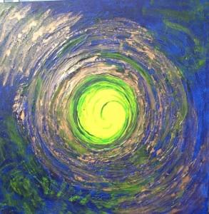 Acrylbild WIEGE DES LICHTS Acrylmalerei Gemälde Wanddeko abstrakte Kunst  Malerei  abstraktes Bild blaues Gemälde - Handarbeit kaufen