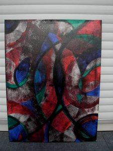 Acrylbild NOVEMBERFANTASIE Acrylmalerei Gemälde abstrakte Malerei Wanddekoration schwarzes Bild  Kunst direkt vom Künstler Malerei Bild auf Keilrahmen - Handarbeit kaufen