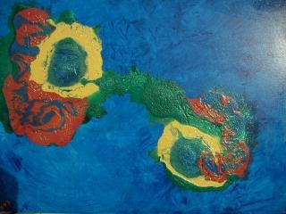 Acrylbild BÜNDNIS Acrylmalerei Gemälde abstrakte Kunst Wanddekoration abstraktes Gemälde Malerei Handarbeit Handsigniert