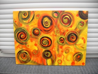 Acrylbild ENERGIE DES SOMMERS Acrylmalerei Gemälde abstrakte Malerei Wanddekoration  Kunst direkt vom Künstler Malerei Bild auf Keilrahmen Energiebild
